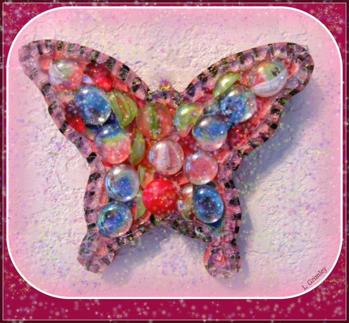 Butterfly with glitter22-001